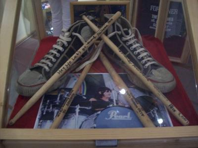Ramones drum sticks and shoes