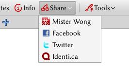 Mister Wong Toolbar mit Identi.ca Erweiterung